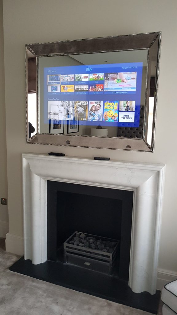 Mirror TV with TV on